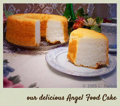 Our delicious angel food cake