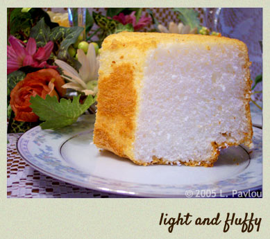 Light and fluffy angel food cake