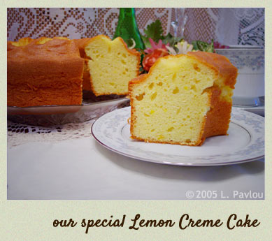 our special lemon creme cake