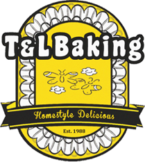T&L Bakery Logo: A Premium Angel Food Cake and Pound Cake Wholesale Bakery.