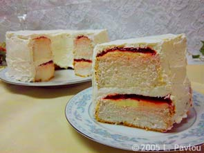 frosted strawberry pound cakes